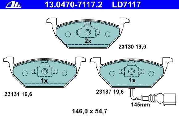 Belagsatz 13.0470-7117.2