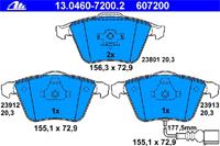 ATE Bremsbeläge: Bremsbeläge 13.0460-7200.2