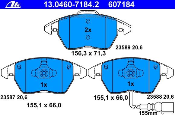 Bremsbelagsatz 13.0460-7184.2