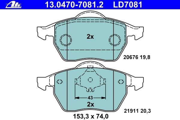 Ceramic Beläge 13.0470-7081.2