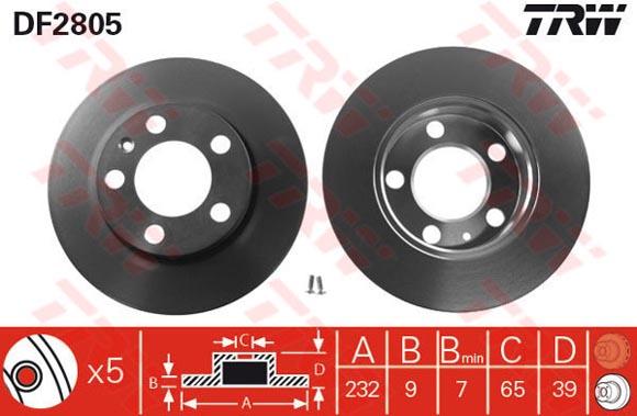 Bremscheibe DF2805